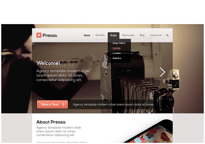 Pressa Website re-design