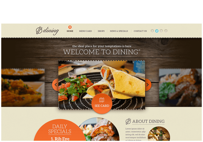 DINING Website re-design
